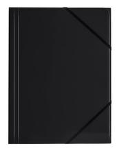Teczka A4 z gumką narożną czarna p6, cena za 1szt.