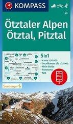 Otztaler Alpen, Otztal, Pitztal 1:50 000 Kompass