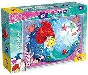 Puzzle dwustronne maxi Księżniczki Ariel 60