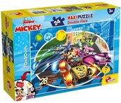 Puzzle dwustronne maxi Myszka Miki 24