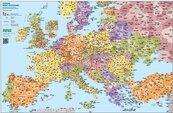 Europa mapa kodów pocztowych. Podkladka na biurko