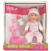 Lalka bobas Baby Olivia pijąca, sikająca 38 cm