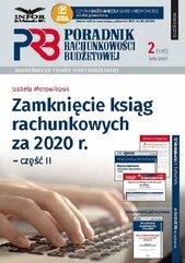 Zamknięcie ksiąg rachunkowych za 2020 r. Część 2