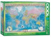 Puzzle 1000 Mapa Świata