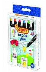 Kredki dekoracyjne do szkła 6 kolorów JOVI