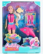 Lalka Anlily 30 cm z delfinkiem + akcesoria
