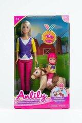 Lalka Anlily 30 cm z dzieckiem i kucykiem