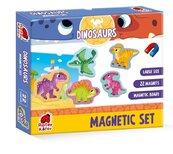 Zestaw magnesów. Dinozaury
