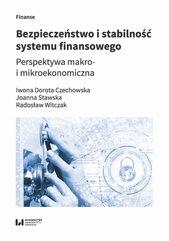 Bezpieczeństwo i stabilność systemu finansowego