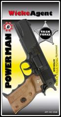 PROMO Pistolet Powerman 8-shot blister 220mm 0538