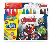 Kredki 12 kolorów świecowe żelowe wykręcane w sztyfcie Avengers Colorino Kids 91499