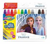 Kredki 12 kolorów świecowe żelowe wykręcane w sztyfcie Frozen. Kraina Lodu Colorino Kids 91109