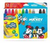 Kredki 12 kolorów świecowe żelowe wykręcane w sztyfcie Mickey i Przyjaciele Colorino Kids 89946