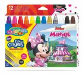 Kredki 12 kolorów świecowe żelowe wykręcane w sztyfcie Minnie Mouse Colorino Kids 90713