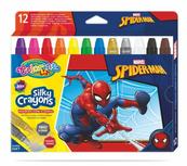 Kredki 12 kolorów świecowe żelowe wykręcane w sztyfcie Spiderman Colorino Kids 91888
