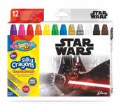 Kredki 12 kolorów świecowe żelowe wykręcane w sztyfcie Star Wars Colorino Kids 89557