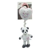 Panda Pozytywka różowa / miętowa 38cm 051356