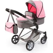 Bayer Wózek dla lalki City Neo szaro różowy 18125AA