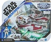 Star Wars Mission Fleet Obi-Wan Kenobi i Jedi Starfighter