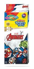 Farby tempera 12 kolorów w tubach 12 ml Avengers Colorino Kids 91451