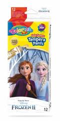 Farby tempera 12 kolorów w tubach 12 ml Frozen. Kraina Lodu Colorino Kids 91062