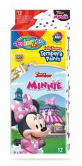 Farby tempera 12 kolorów w tubach 12 ml Minnie Mouse Colorino Kids 90676