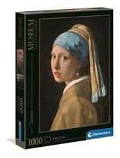 Clementoni Puzzle 1000el Museum Vermeer: Dziewczyna z perłą. Girl with a pearl earring 39614