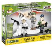 COBI 2039 Historical Collection WWII Figurki German Elite Infantry 30 klocków + 3 figurki