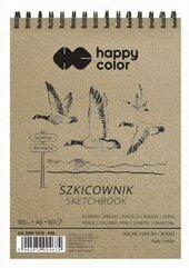 Szkicownik na spirali A6/80K Ptaki HAPPY COLOR
