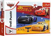 Puzzle 30el Auta przed wyścigiem Cars 18274 TREFL