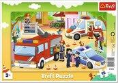 Puzzle ramkowe 15 Pojazdy interwencyjne TREFL