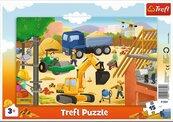Puzzle ramkowe 15 Na budowie TREFL
