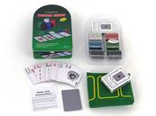 Karty do gry - zestaw w metalowy opakowaniu / poker 490017 ADAR