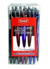 Długopis automatyczny mix (30szt) TOMA