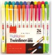 Zakreślacz dwustronny pastelowy 24 kolorów DONG-A