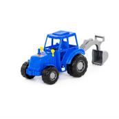 Polesie 84873 Traktor-koparka Majster niebieski w siatce