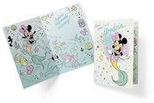 Karnet B6 DS-019 Urodziny Myszka Minnie syrenka
