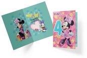 Karnet B6 DS-010 Urodziny 4 Myszka Minnie