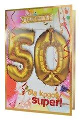 Karnet QBL-006 Urodziny 50 + balony