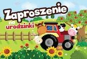 Zaproszenie ZZ-029 Urodziny traktor (5 szt.)