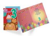 Karnet B6 DK-601 Urodziny 3 małpki