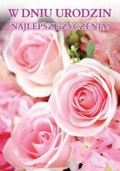 Karnet B6 3DV-108 Urodziny kwiaty