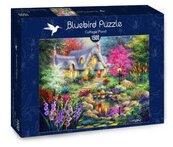 Puzzle 1500 Domek z pięknym stawem