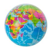 Piłeczka Globus 8cm 115931