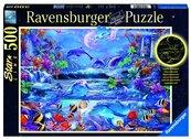 Puzzle 500 Świecące - Magiczny świat