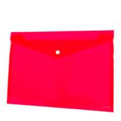 Koperta PP na zatrzask A4 czerwona p12 TETIS, cena za 1szt