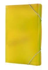 Teczka harmonijka PP z gumką narożną (13) A4 żółta TETIS