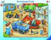Puzzle w ramce 40 Wielkie pojazdy budowlane