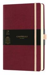 Notatnik 13x21cm linia Castelli Aquarela Cherry