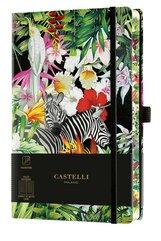 Notatnik 13x21cm linia Castelli Eden Zebras